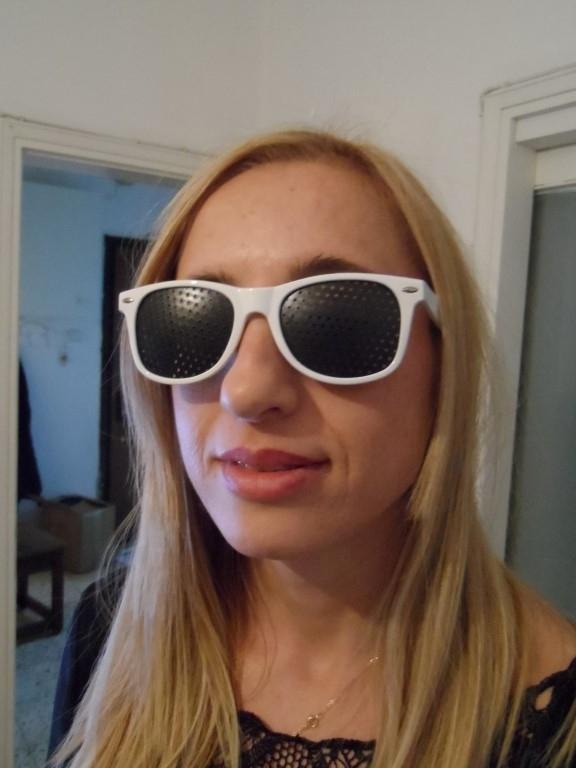 gaatjesbril wayfarer wit