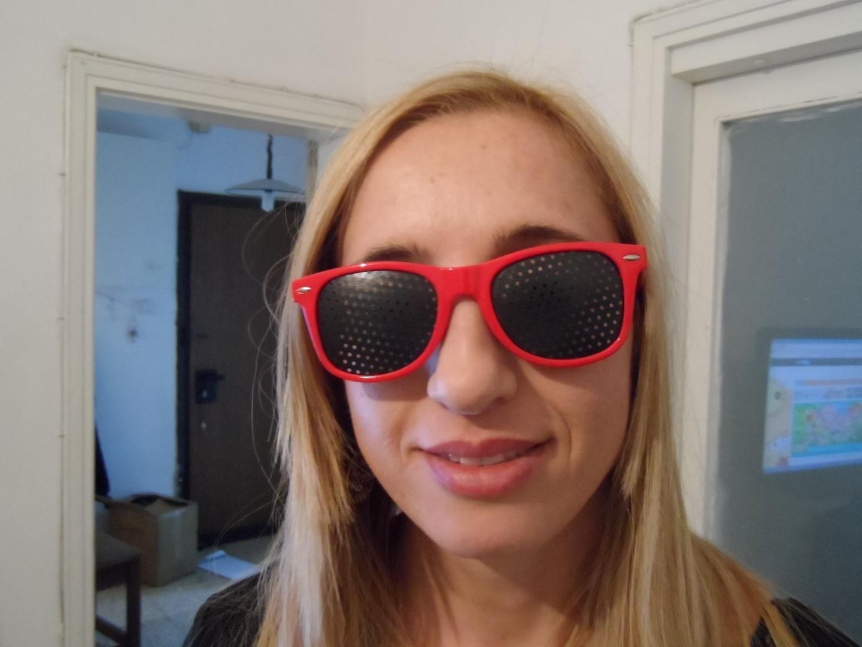 gaatjesbril wayfarer rood