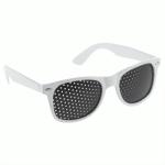 Rasterbril wayfarer wit